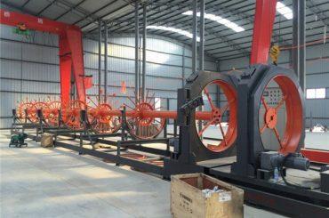 uso acciaio del saldatore della giuntura del rotolo della saldatrice della gabbia d'acciaio di CNC per costruzione
